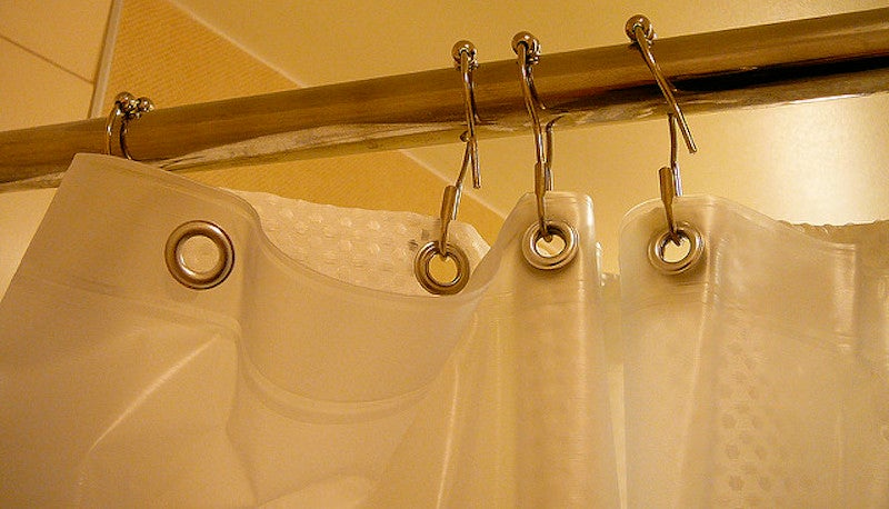 you can clean your shower curtain liner in the washing machine. Black Bedroom Furniture Sets. Home Design Ideas