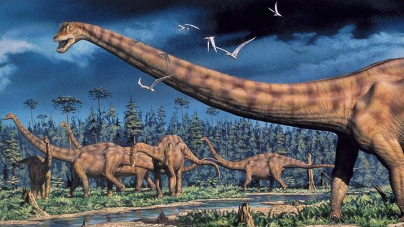 Illustration for article titled How did gigantic dinosaurs like Brachiosaurus get it on?
