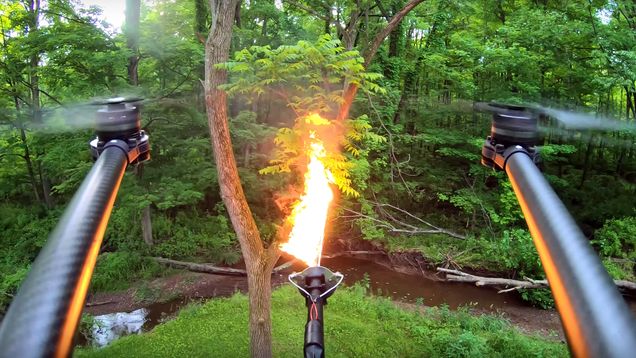 The Flame-Throwing Drone