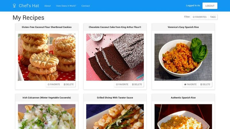 Illustration for article titled Chef's Hat Lets You Bookmark and Organize Recipes from All Over the Web