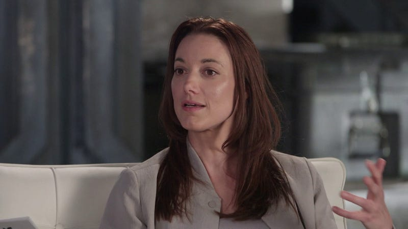 Here's Zoie Palmer as a brunette