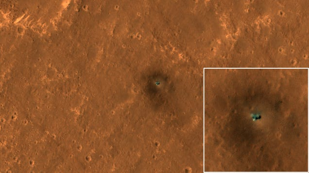New Satellite Pics Show Curiosity and InSight Hard at Work on Mars