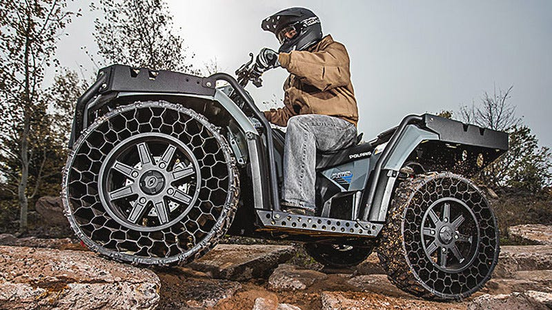 Illustration for article titled The First Airless-Tire Vehicle You Can Own Is a Wicked ATV