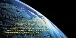 Illustration for article titled The Star Wars Opening Crawl Finally Reaches Earth