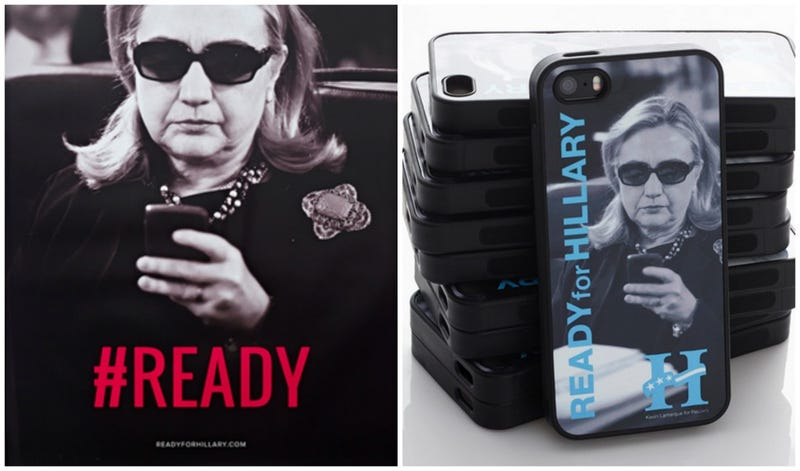 Illustration for article titled Maybe Ready For Hillary Should Stop Selling This Poster and iPhone Case