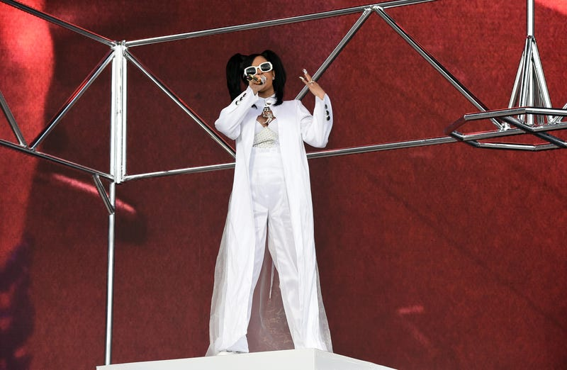 Cardi B performs onstage during the Coachella music festival in Indio, Calif., on April 15, 2018.