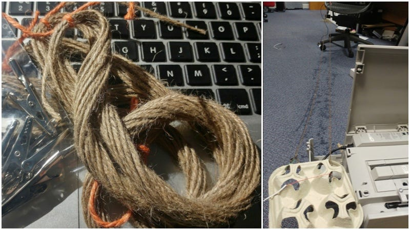 Illustration for article titled ¿A qué velocidad iría el ADSL con el mítico sistema de dos latas unidas por una cuerda? Alguien lo ha comprobado