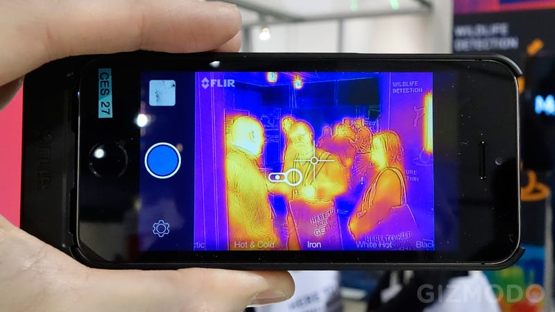 Illustration for article titled FLIR Just Turned Your iPhone 5 Into a Predator-Like Thermal Camera