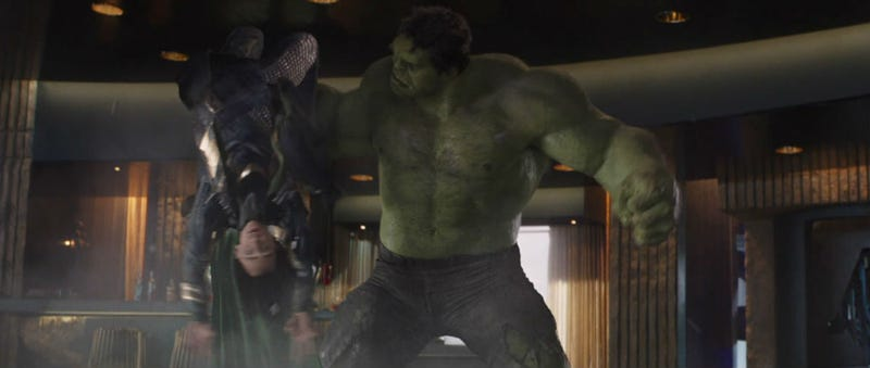 The Hulk messed up Loki in The Avengers. He may get another shot in Thor: Ragnarok. Image: Disney