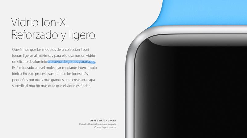 "Illustration for article titled Apple borra ""a prueba de golpes"" de la descripción del Watch Sport tras perder una demanda"