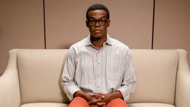 """""""Chidi? Come on in."""" All photos: Colleen Hayes (NBC)"""