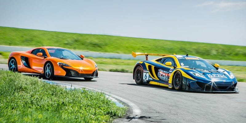 Illustration for article titled Back-to-Back: McLaren 650S and 12C GT3