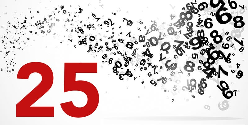 Illustration for article titled Las curiosidades y coincidencias detrás de un simple número: el 25