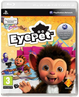 Illustration for article titled Why Does The EyePet Box Art Look Different From Other PS3 Games?