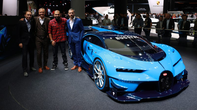 Illustration for article titled Bugatti's Awesome Virtual Concept Looks Real Enough To Race Offline