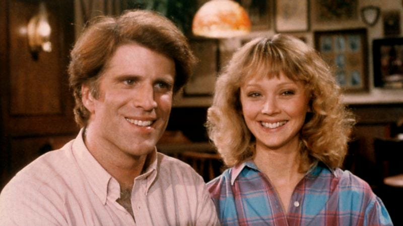Ted Danson and Shelly Long in Cheers (Photo by NBC/NBCU Photo Bank via Getty Images)
