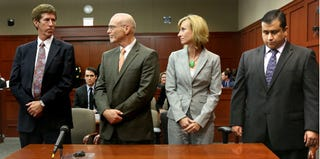 George Zimmerman and his defense team (Pool/Getty Images)