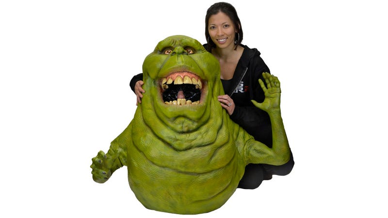 Illustration for article titled Shoot Your Own Ghostbusters Remake With This Life-Size Slimer Replica