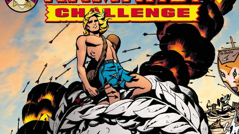 Illustration for article titled Comics legend Steve Rude takes The Kamandi Challenge in this exclusive DC preview