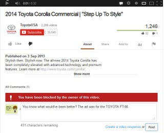 Illustration for article titled Toyota doesn't want an opinion from a Toyota owner