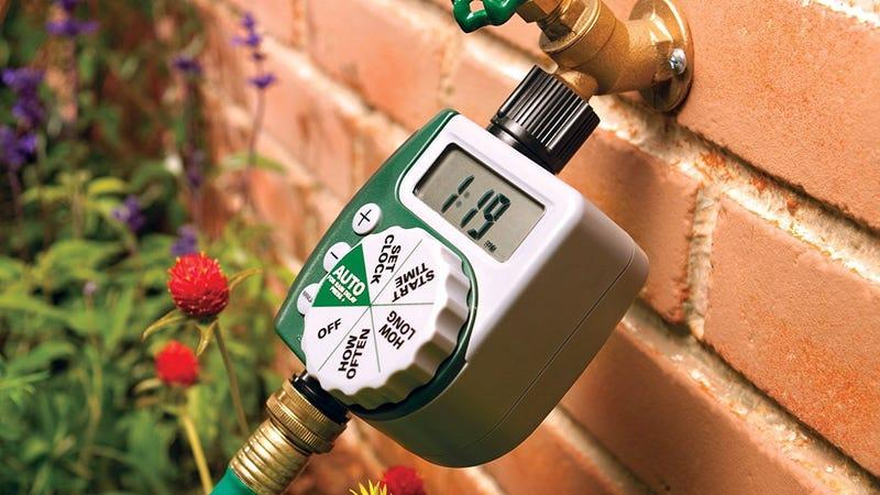 Programmable Hose Faucet Timer   $19   Amazon