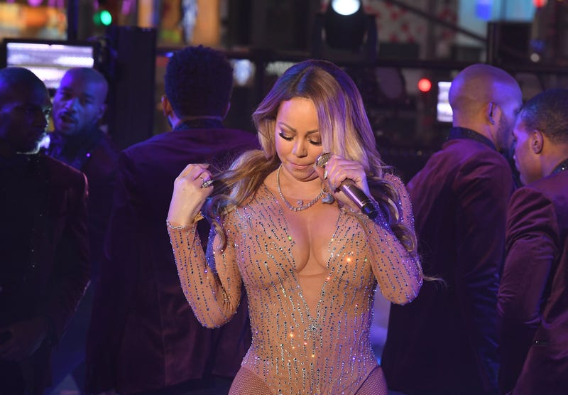 Mariah Carey performs during New Year's Eve celebrations in Times Square on Dec. 31, 2016, in New York. ANGELA WEISS/AFP/Getty Images
