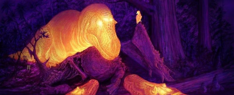 Illustration for article titled Resuelven el misterio de los extraños agujeros en la cabeza del Tyrannosaurus rex