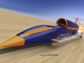 Illustration for article titled This Car Will Run at 1,000mph