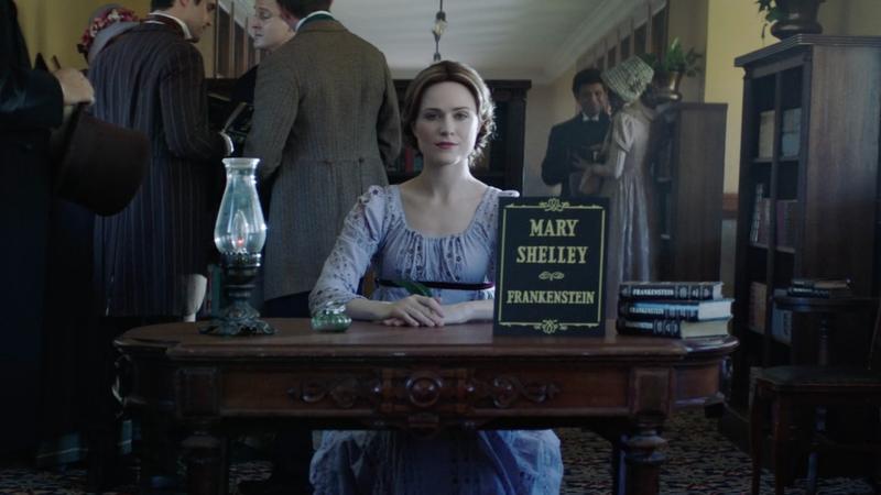 Evan Rachel Wood stars as Mary Shelley in the Drunk History retelling of Frankenstein's origin story.