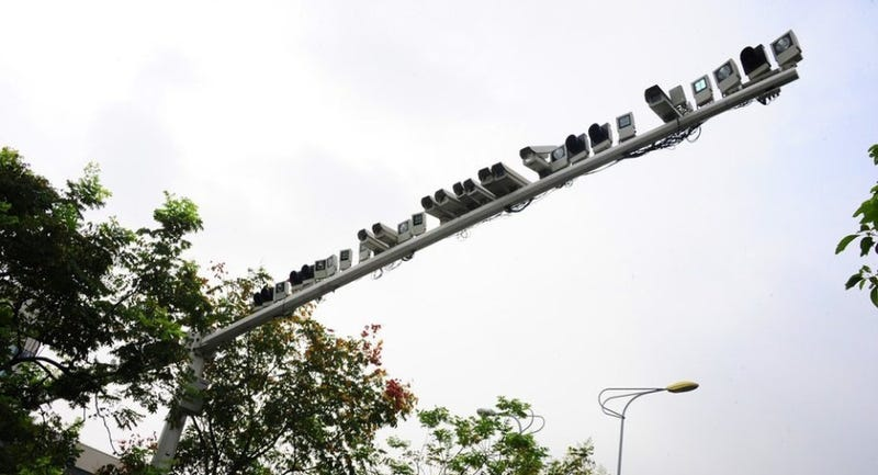 Illustration for article titled China installed more than 60 security cameras on one street light