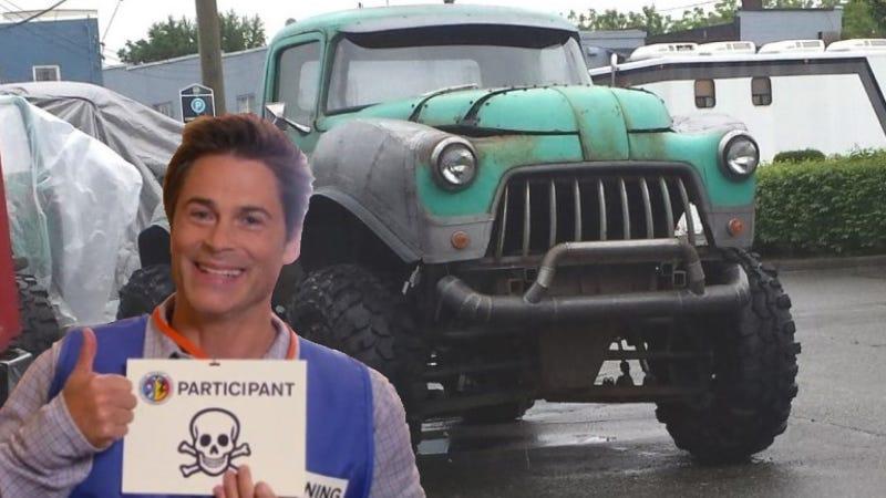 Illustration for article titled Absurd Machines Of Upcoming Rob Lowe 'Monster Truck Movie' Spotted