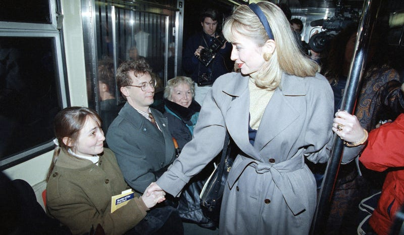 Illustration for article titled This Isn't Hillary Clinton's FirstCampaignSubway Ride
