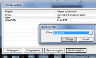 Illustration for article titled Automatic Printer Switcher Changes Default Printer for Different Programs