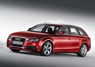 Illustration for article titled 2009 Audi A4 Avant Breaks Cover Before Geneva, Stores Broken Cover In Sexy Wagon