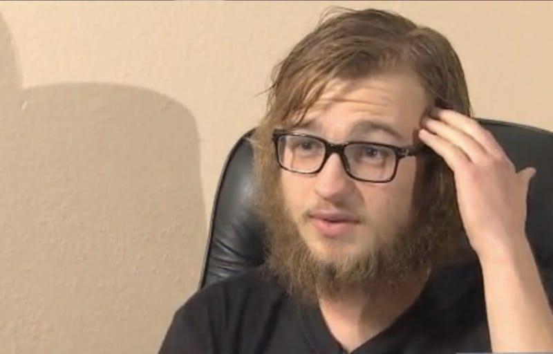 half mens bearded preacher