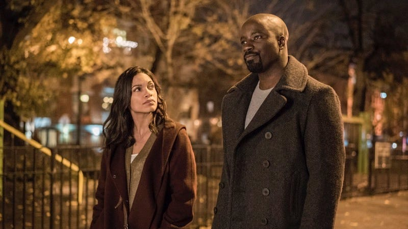 Rosario Dawson and Mike Colter in Luke Cage. Image: Netflix