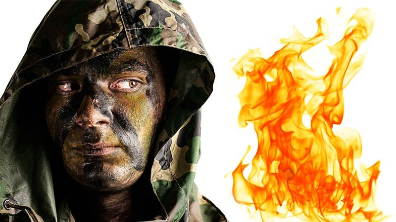 Illustration for article titled Heat-Proof Face Paint Withstands Bomb Blast Heat