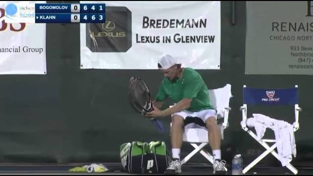 Tennis Player Calmly Melts Down And Retires From Match