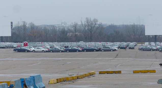 Volkswagen Stashed Hundreds Of Cheating Diesels In An Abandoned NFL Stadium Parking Lot