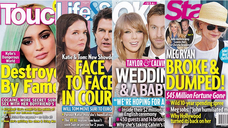 Illustration for article titled This Week In Tabloids: Taylor and Calvin Will Soon Welcome a Baby to the Stage