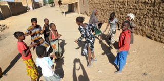 Malian girls play on Jan. 30, 2013, in the northern city of Gao, Mali (Getty Images)