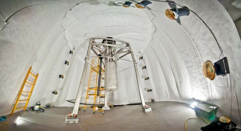 The LUX Dark Matter Experiment operates a mile underground at the Sanford Underground Research Facility. (Image: C. H. Faham)
