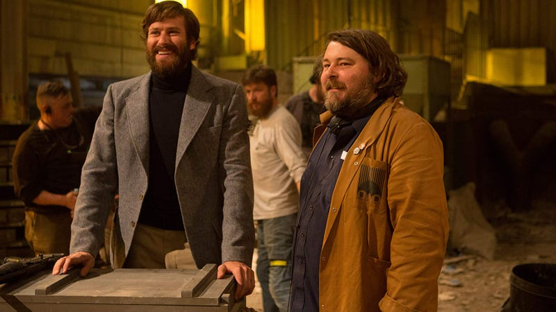 Armie Hammer and Ben Wheatley on the set of Free Fire.