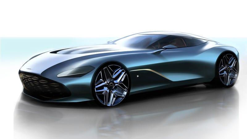 The Aston MartinDBS GT Zagato Rendering Looks Like a Sleek Fish