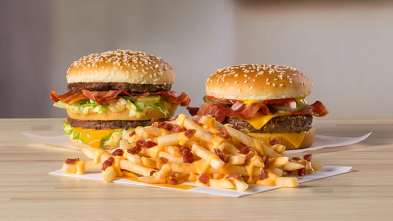 Illustration for article titled McDonald's menu is about to get much bacon-ier