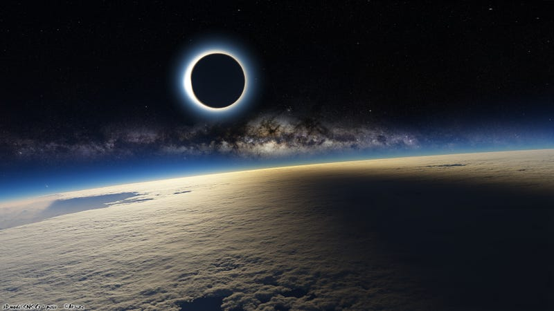 Illustration for article titled This Mind Blowing Image of the Eclipse Can't Possibly Be Real (Updated)