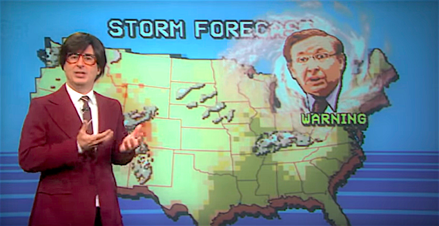 John Oliver predicts how Trump's taint will infect even the goddamned weather