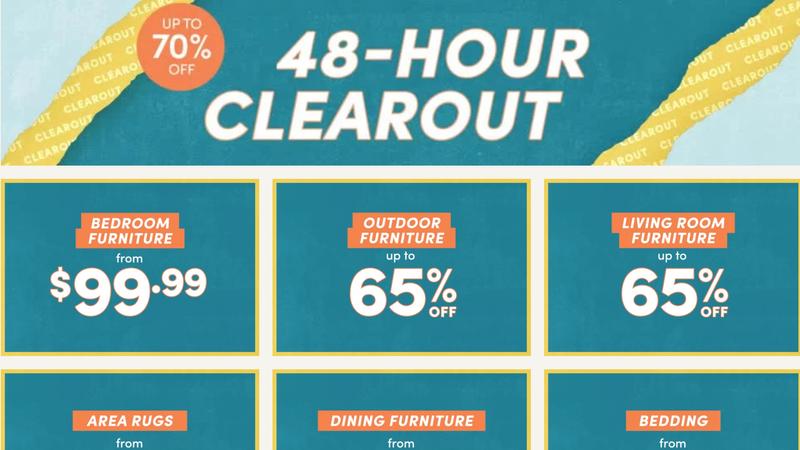 48-Hour Clearout | Wayfair