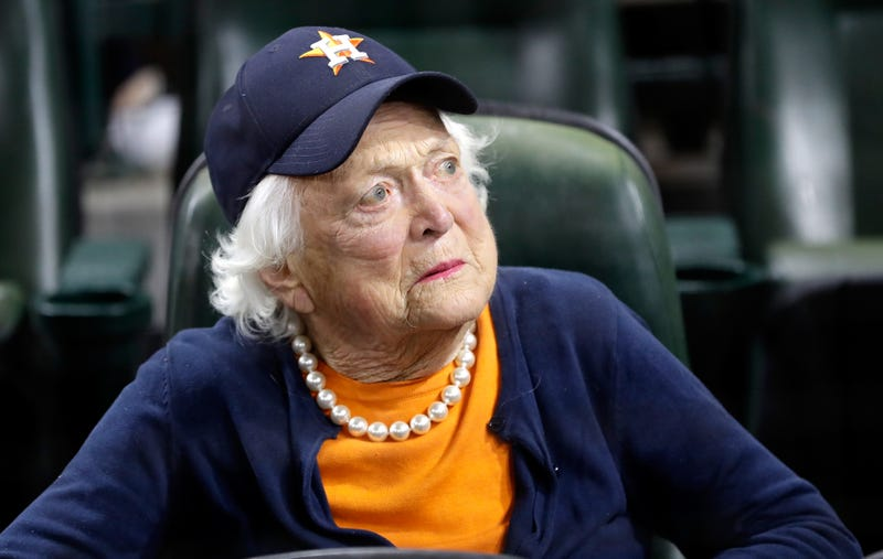 :Former first lady Barbara Bush in 2017