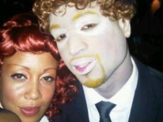Dwyane Wade as Justin Timberlake for Halloween 2010